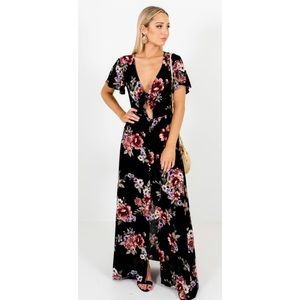 Anthropologie Soprano floral button up maxi dress